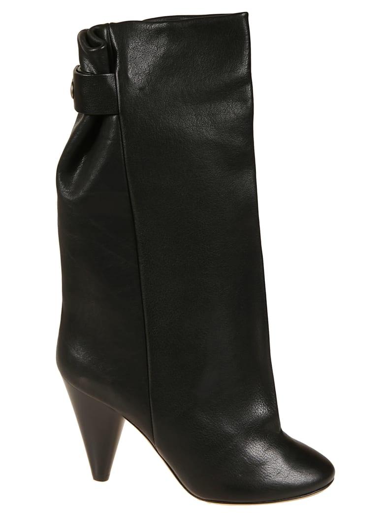 Isabel Marant Wrinkled Ankle Boots - Black