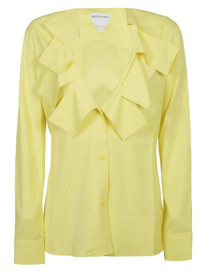 Bottega Veneta Mat Stretch Shirt - Light Yellow