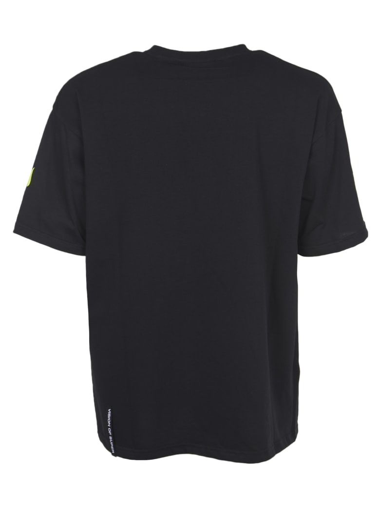 Vision of Super Yellow Flames T-shirt - Black