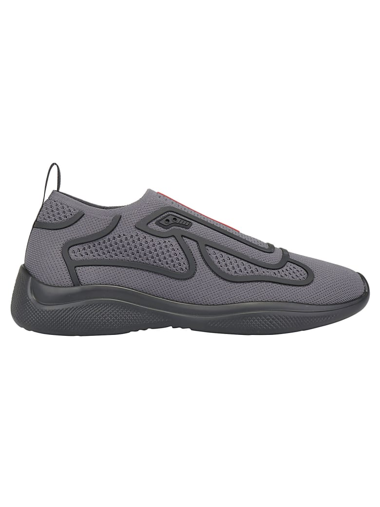 Prada New Americas Sneaker - Nebbia+nero