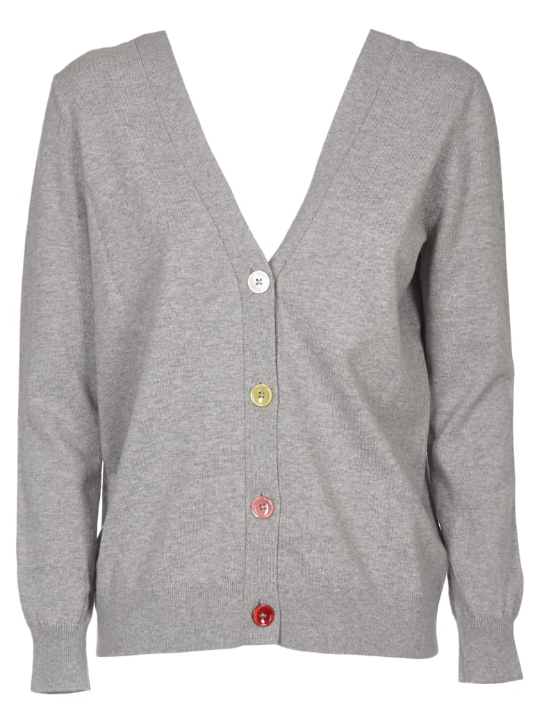 Paul Smith Wool And Cotton Cardigan - Grey