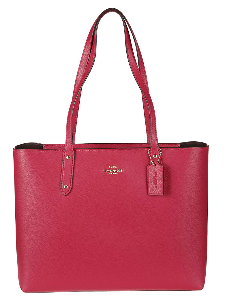 Coach Central Zipped Tote - red