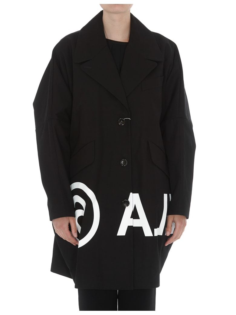 MM6 Maison Margiela Cotton Coat - Black