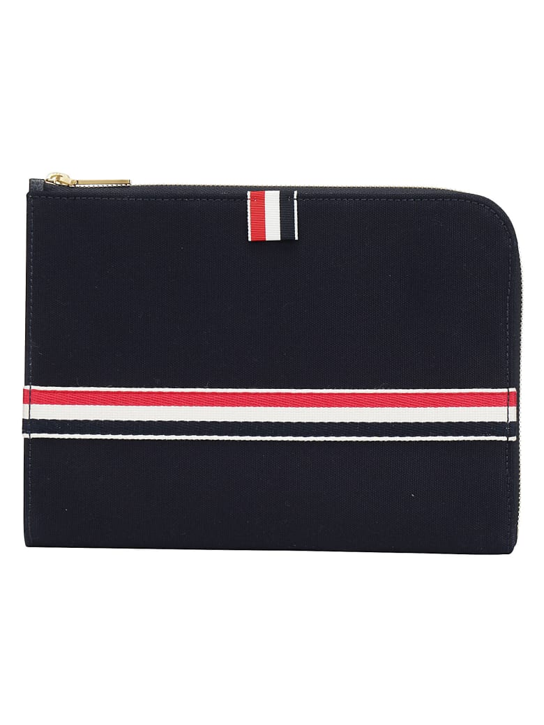 Thom Browne Small Gusset Pouch - Navy