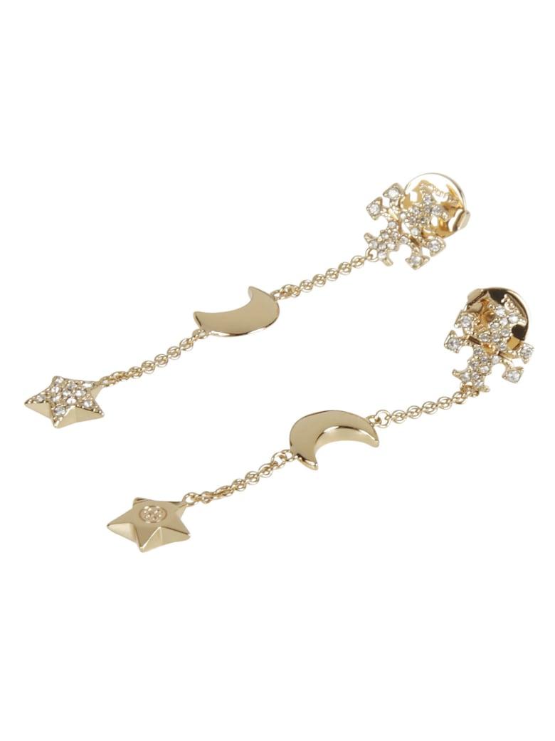 Tory Burch Celestial Linear Earrings - Tory Gold/Crystal