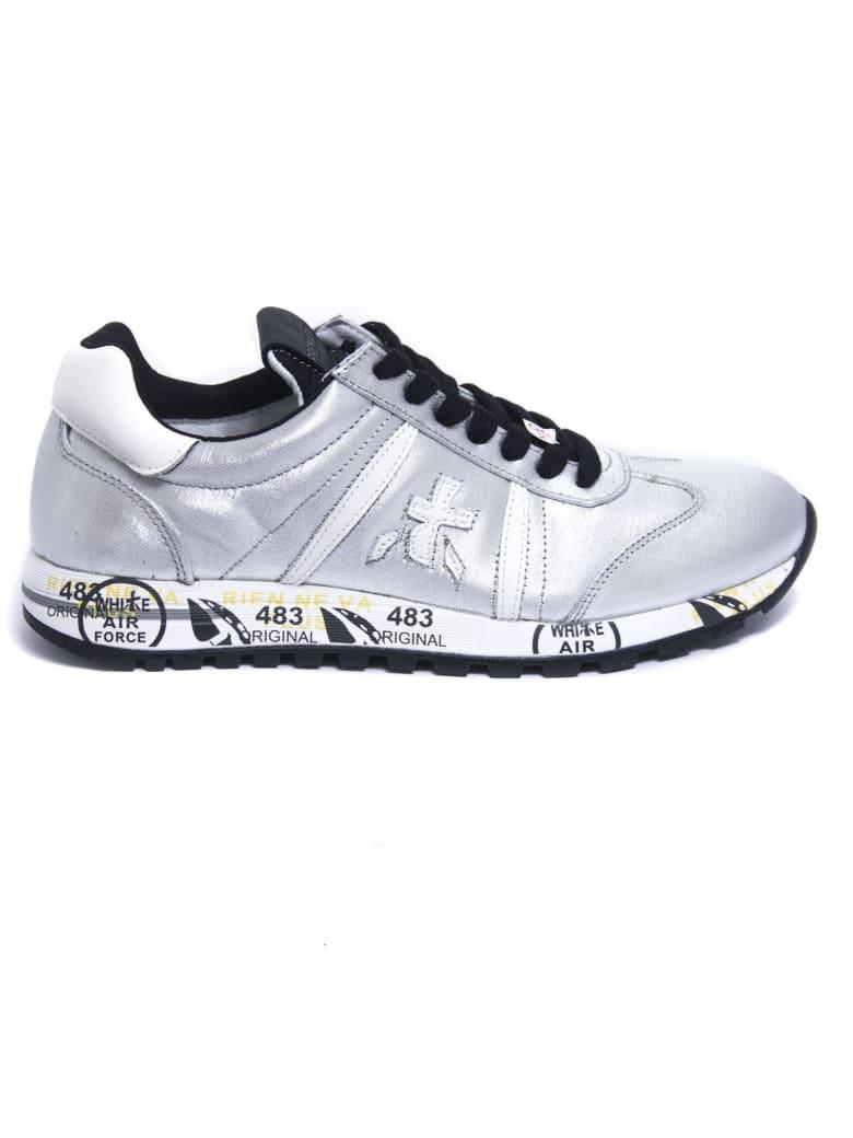 Premiata Lucy Sneaker In Silver Leather - Argento