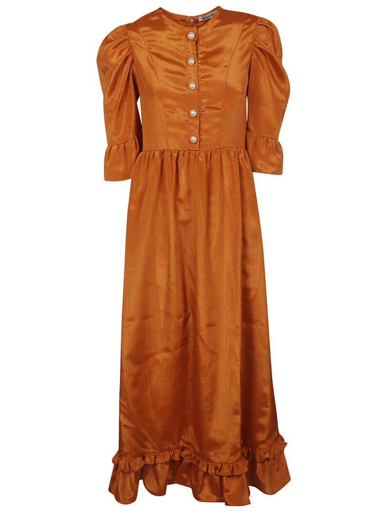 Batsheva Ruffled Dress - Arancio