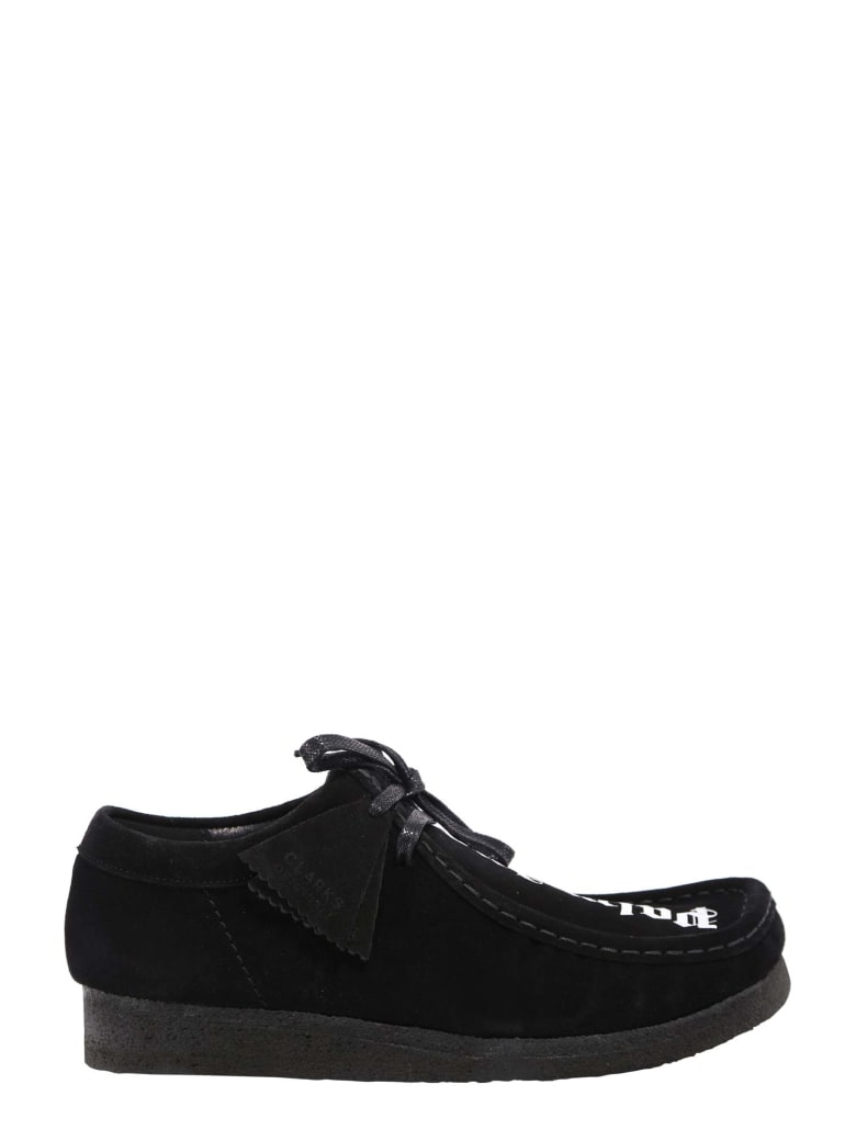 Palm Angels Logo Print Suede Shoes - Nero