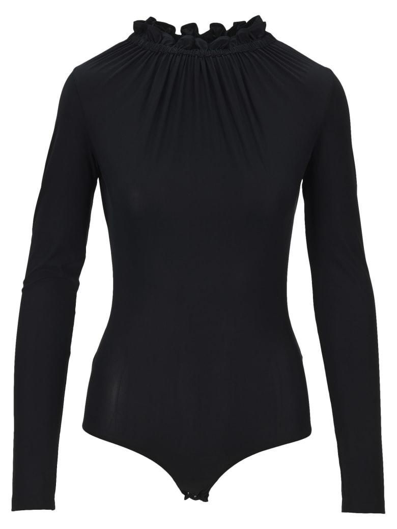 MM6 Maison Margiela Mm6 Ruffled Neck Bodysuit - BLACK
