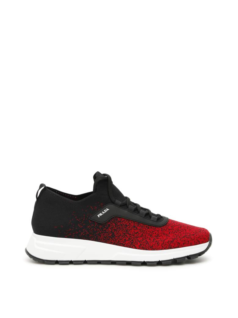 Prada Prax 01 Sneakers - NERO ROSSO (Black)