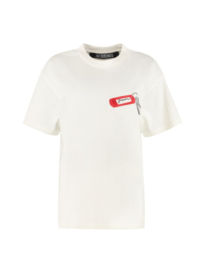 Jacquemus Embroidered Cotton T-shirt - White