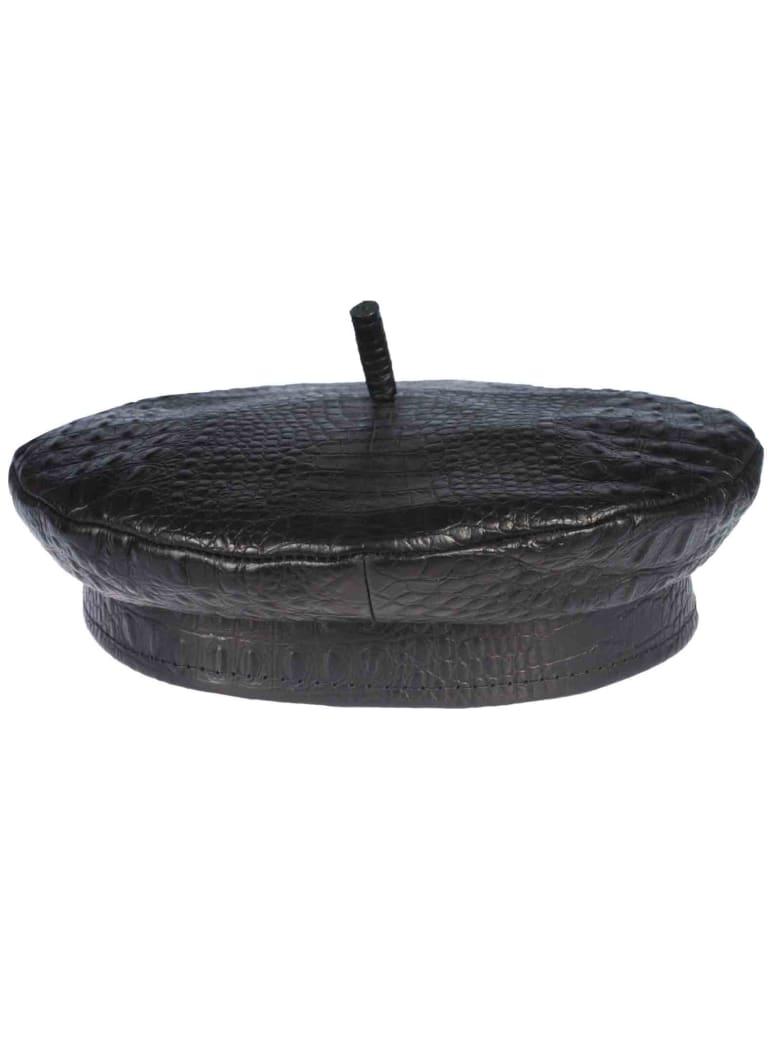 Ruslan Baginskiy Leather Hat - Black