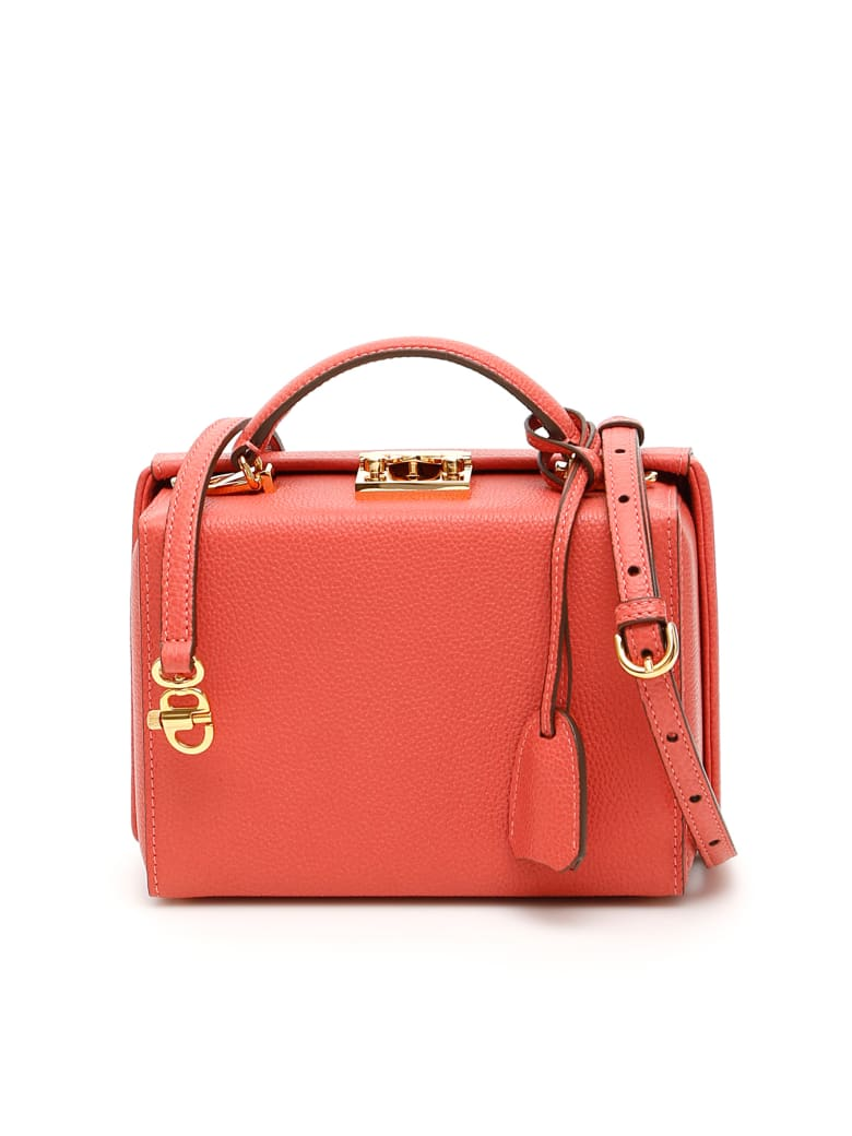 Mark Cross Grace Small Bag Caviar - RED CLAY (Pink)