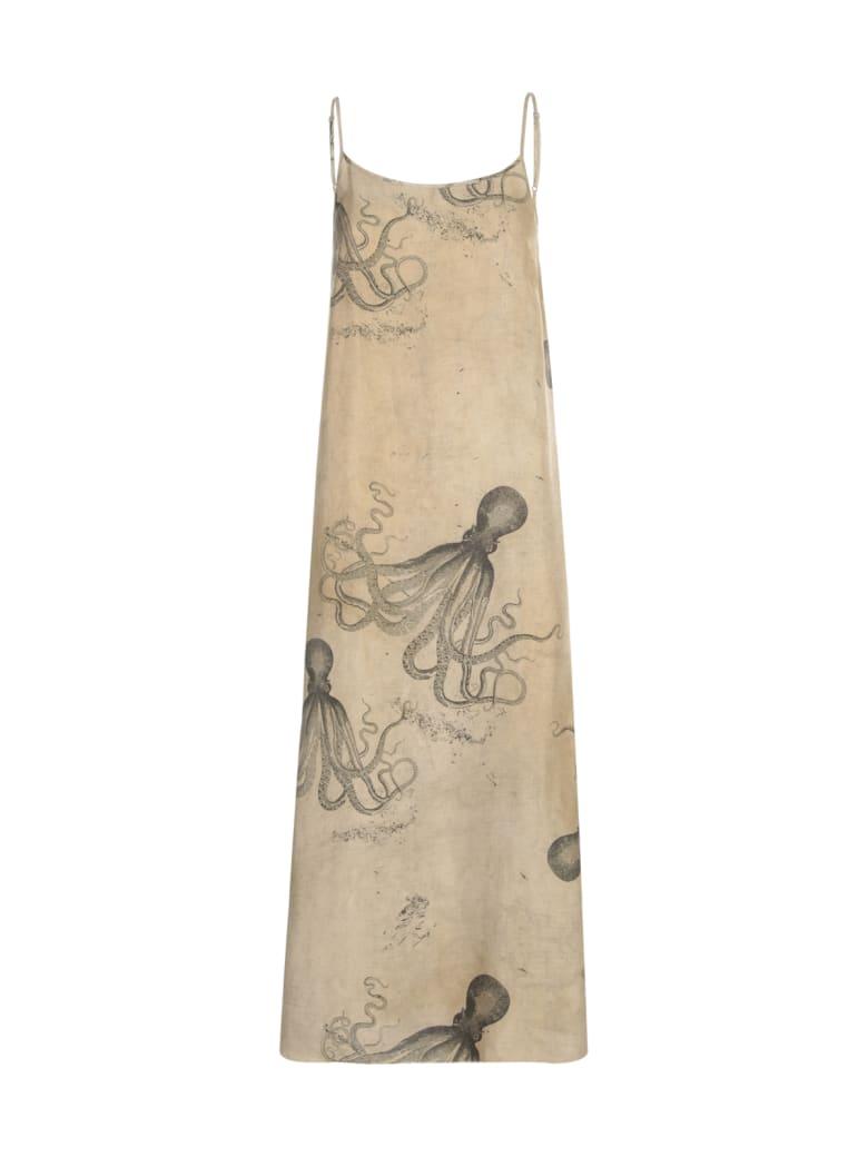 Uma Wang Anaya Thin Strap Long Dress - Light Grey Black