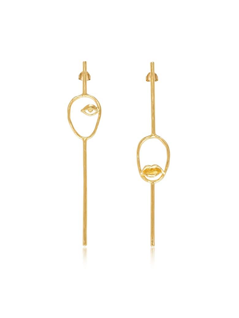 Bjørg Bjorg Les Deux Magots Earrings - Gold