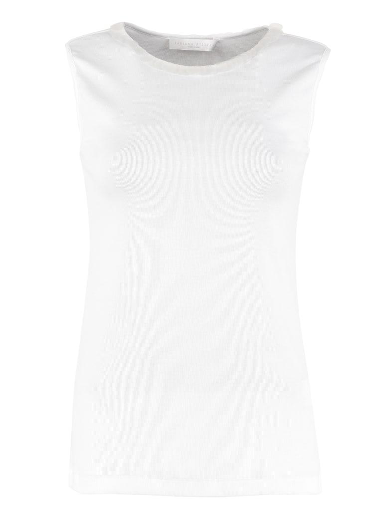 Fabiana Filippi Matte Sequins Top - White