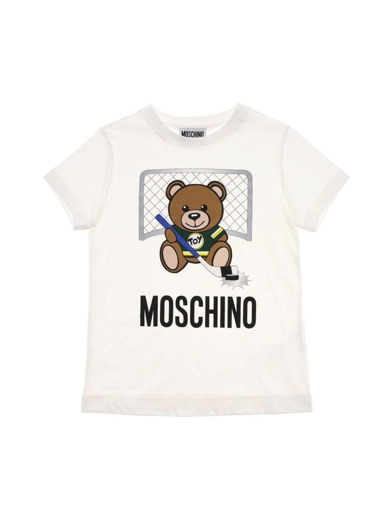 Moschino Tee Moschino Bear Hockey - Bianco