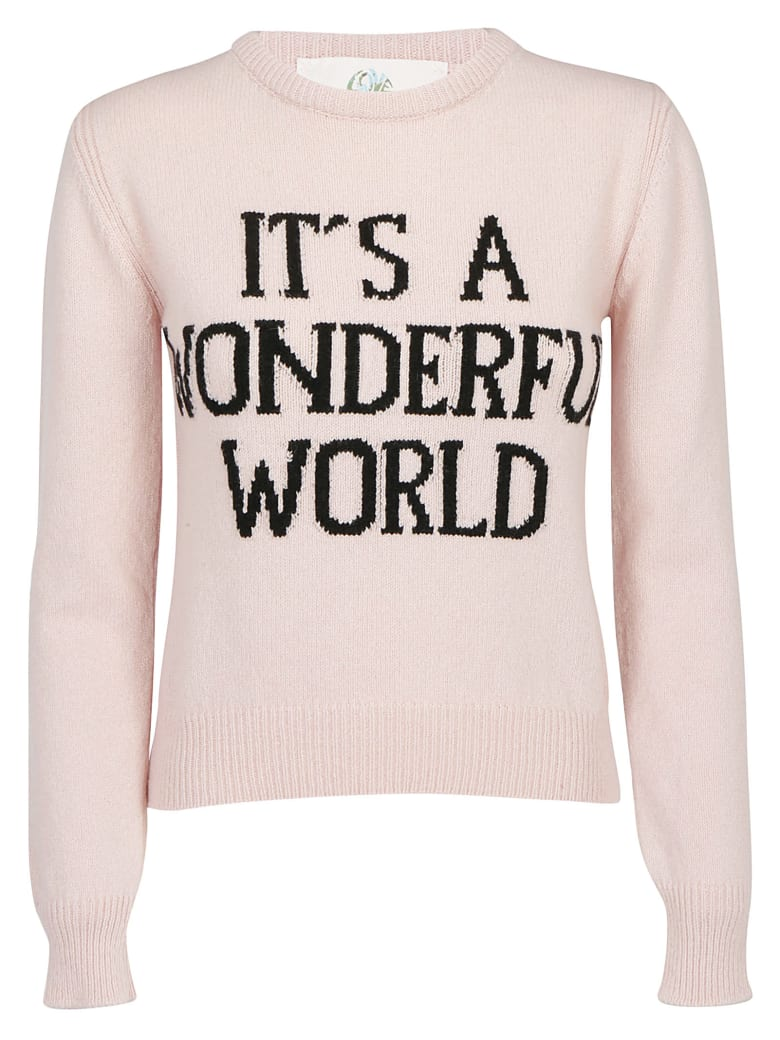 Alberta Ferretti Its A Wonderful World Pullover - Pink