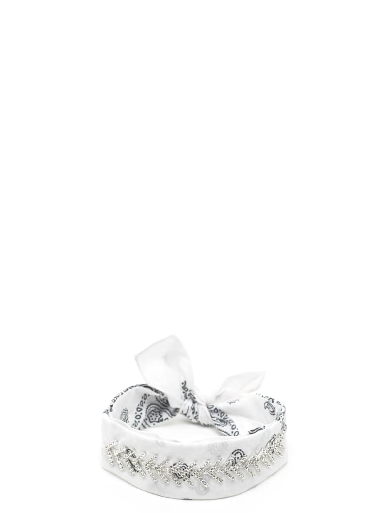 Fallon 'monarch Diamante' Chocker - White