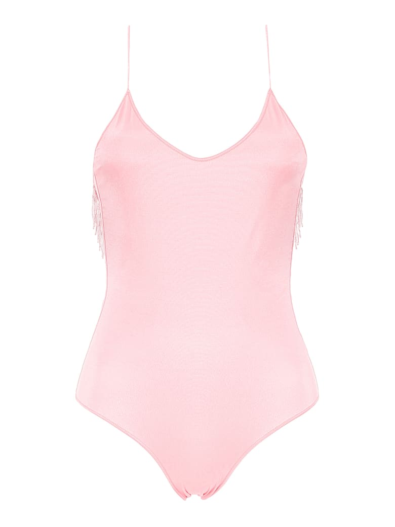 Oseree Swimsuit With Beads - PINK (Pink)