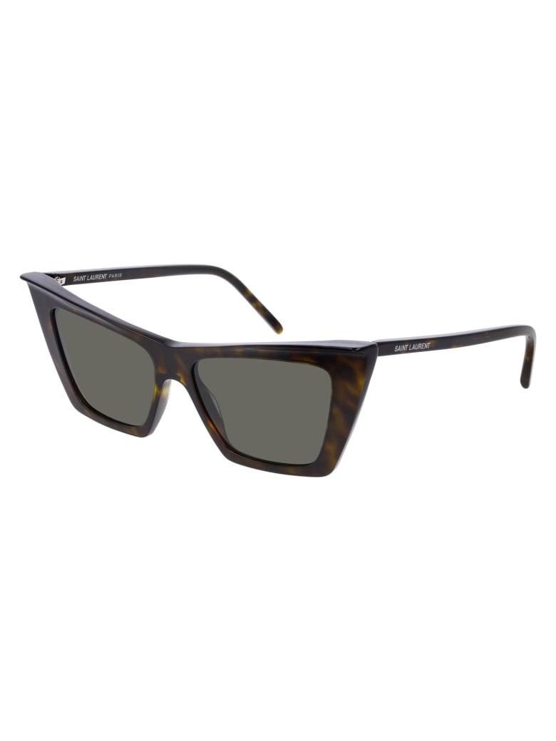 Saint Laurent SL 372 Sunglasses - Havana Havana Grey