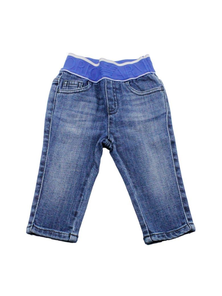 Emporio Armani Denim Jeans Trousers With Elasticated Waist - Denim