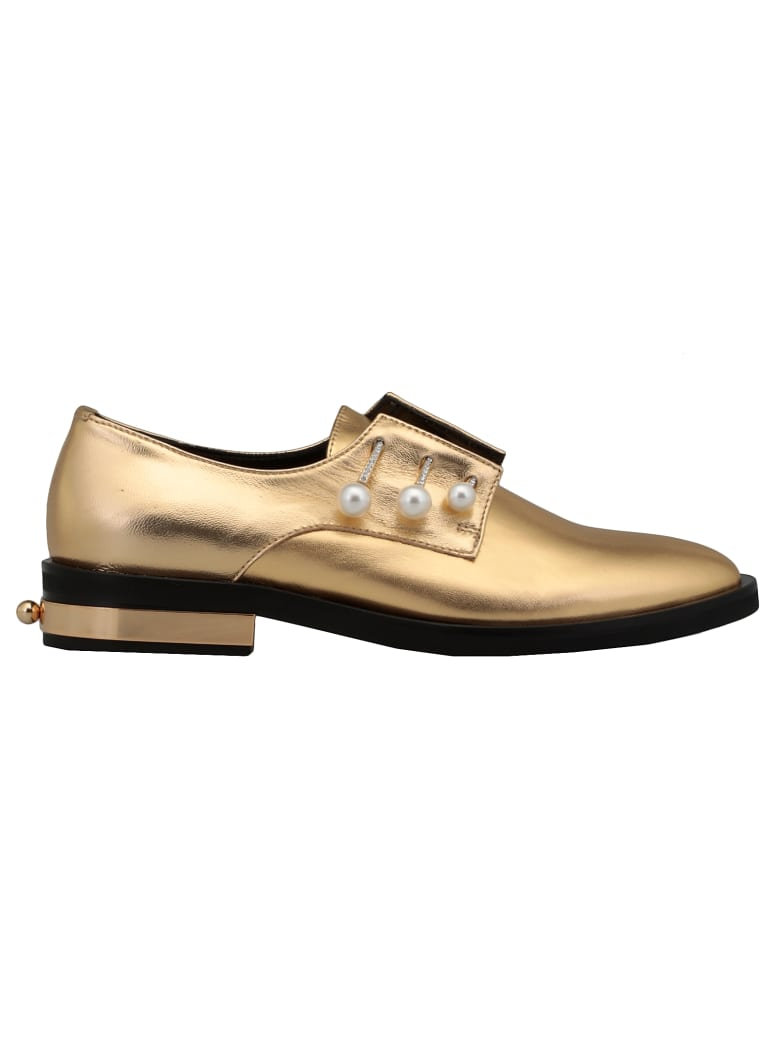 Coliac Fernanda Lace-up Shoe - GOLD