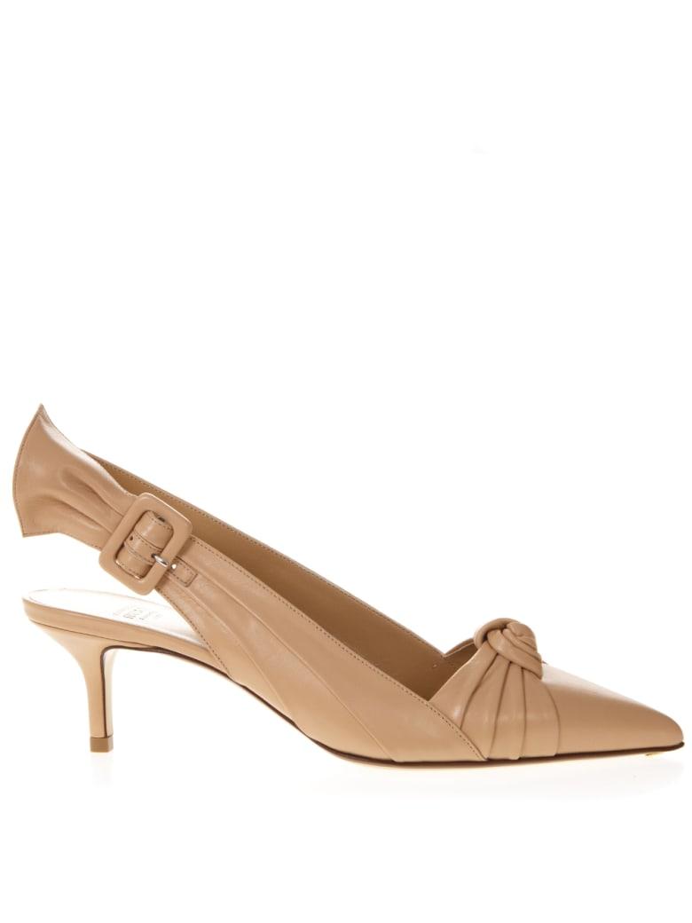 Francesco Russo Nude Leather Knot Sandals - Nude