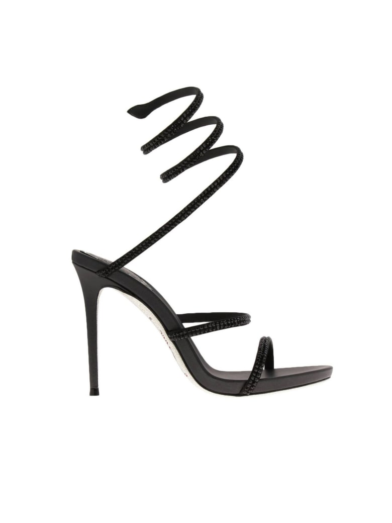 René Caovilla Rene Caovilla Heeled Sandals Shoes Women Rene Caovilla - black