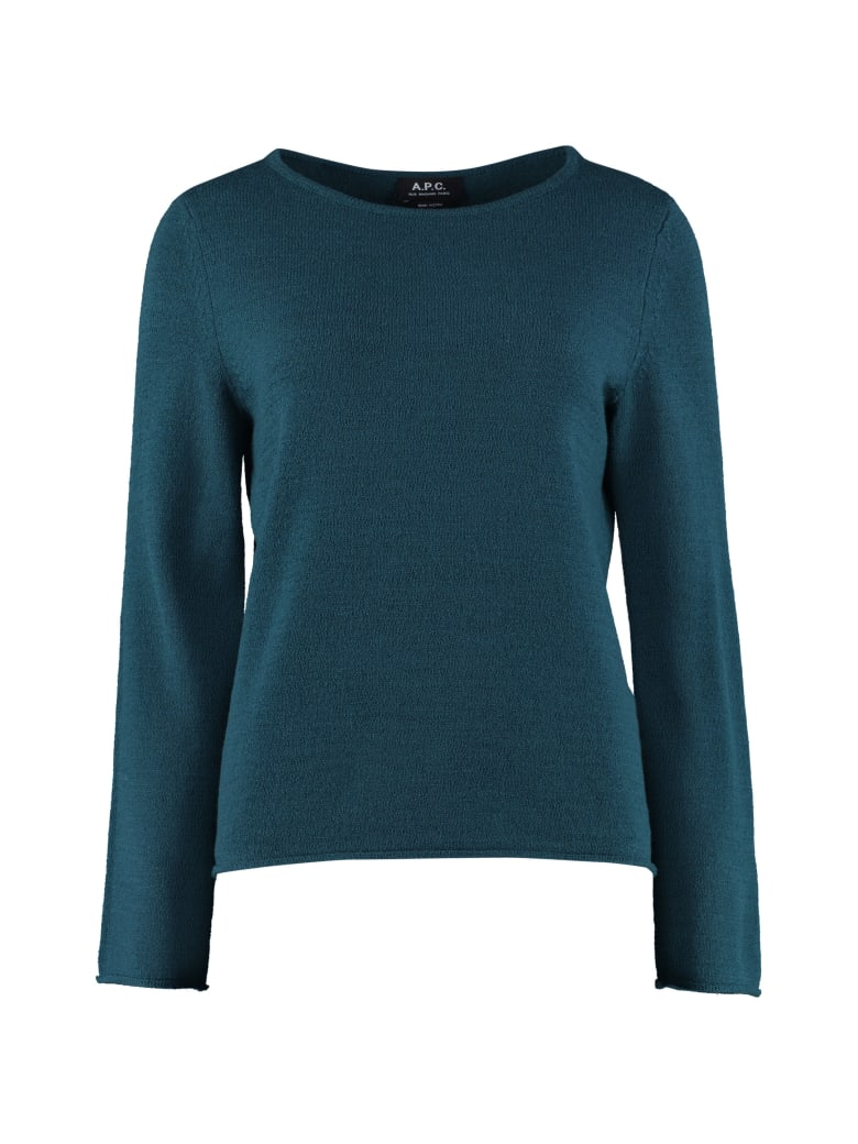 A.P.C. Annette Wool Pullover - green