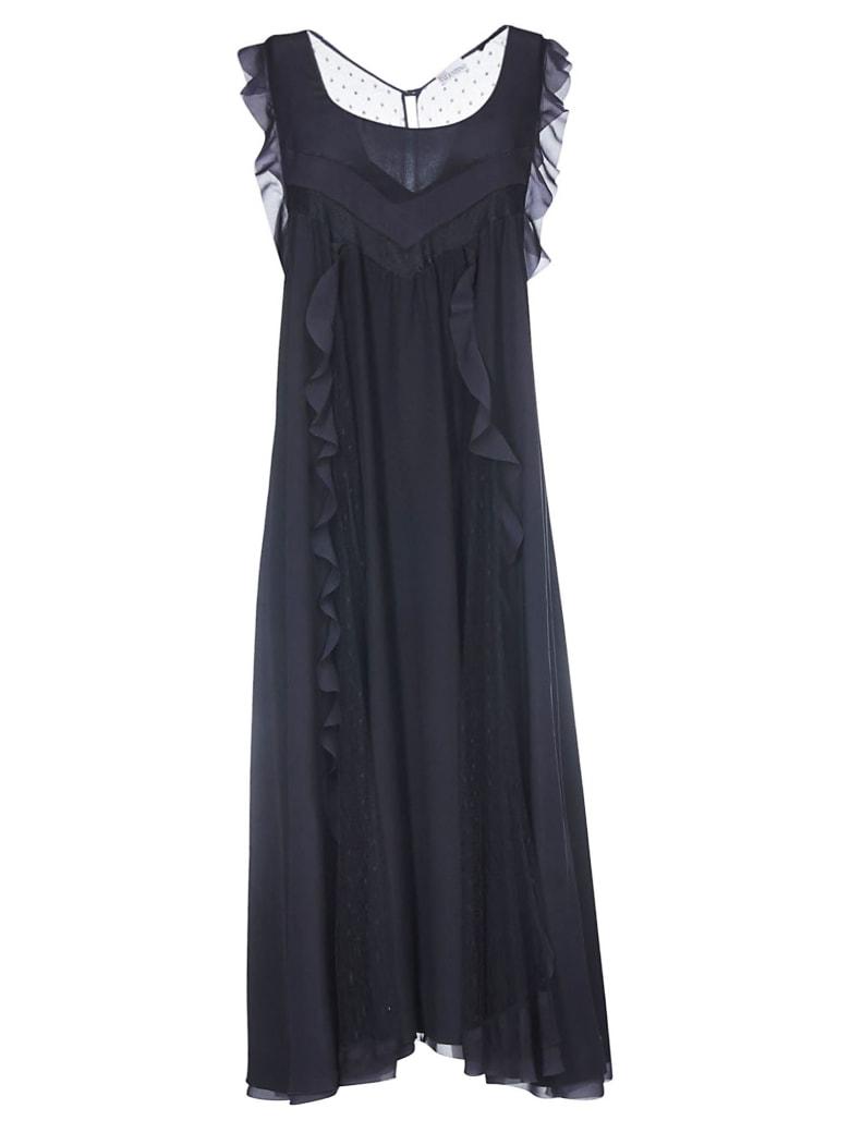 Valentino Slip Dress - Navy