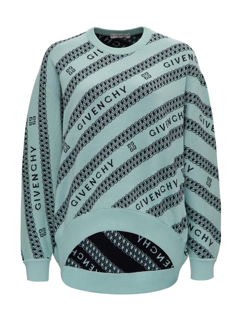 Givenchy Wool Jacquard Sweater - Light blue