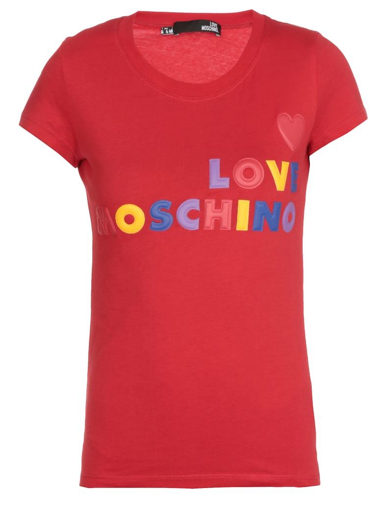 Love Moschino Logo T-shirt - RED