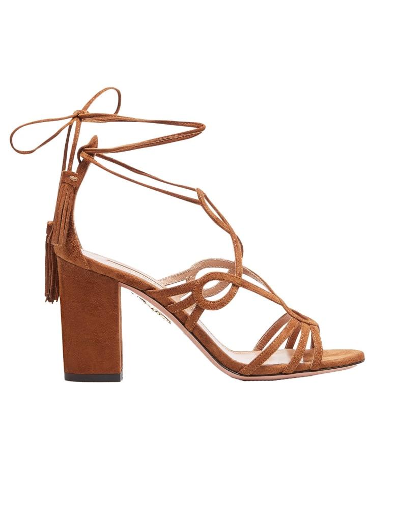 Aquazzura Brown Gitana Sandals - BROWN