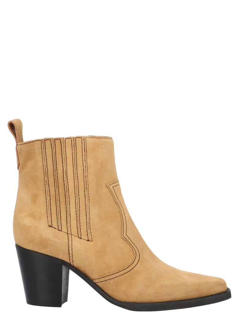 Ganni 'western' Shoes - Beige