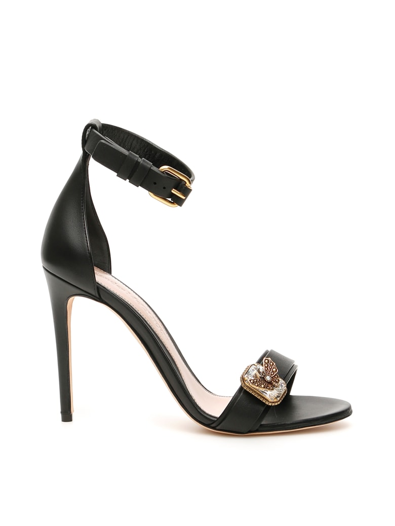 Alexander McQueen Jewels Sandals - BLACK GOLD (Black)