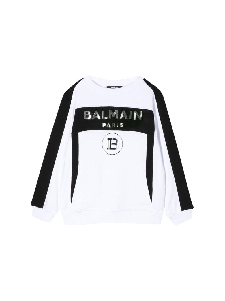 Balmain Kids Logo Sweatshirt - Bianco/nero