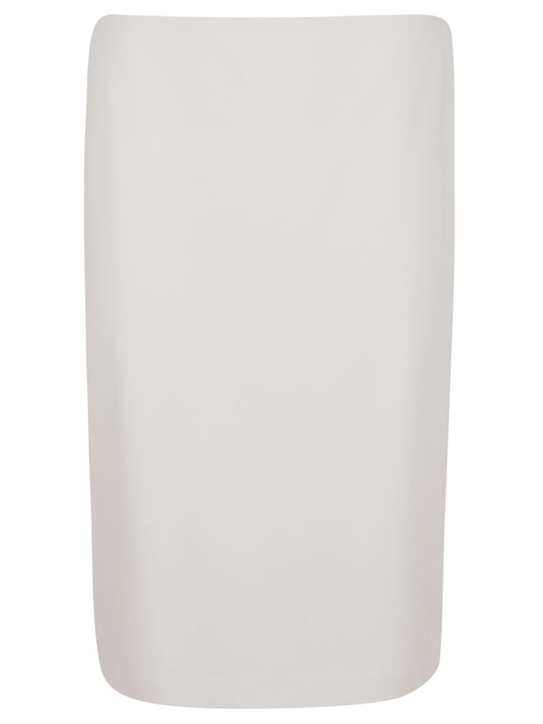 Ralph Lauren Black Label Cindy-straight Skirt - Cream Crepe