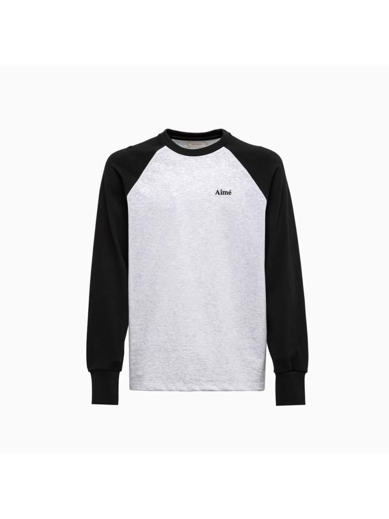 Aimé leon dore Aime Leon Dore Baseball T-shirt Ct018 - GREY/BLACK