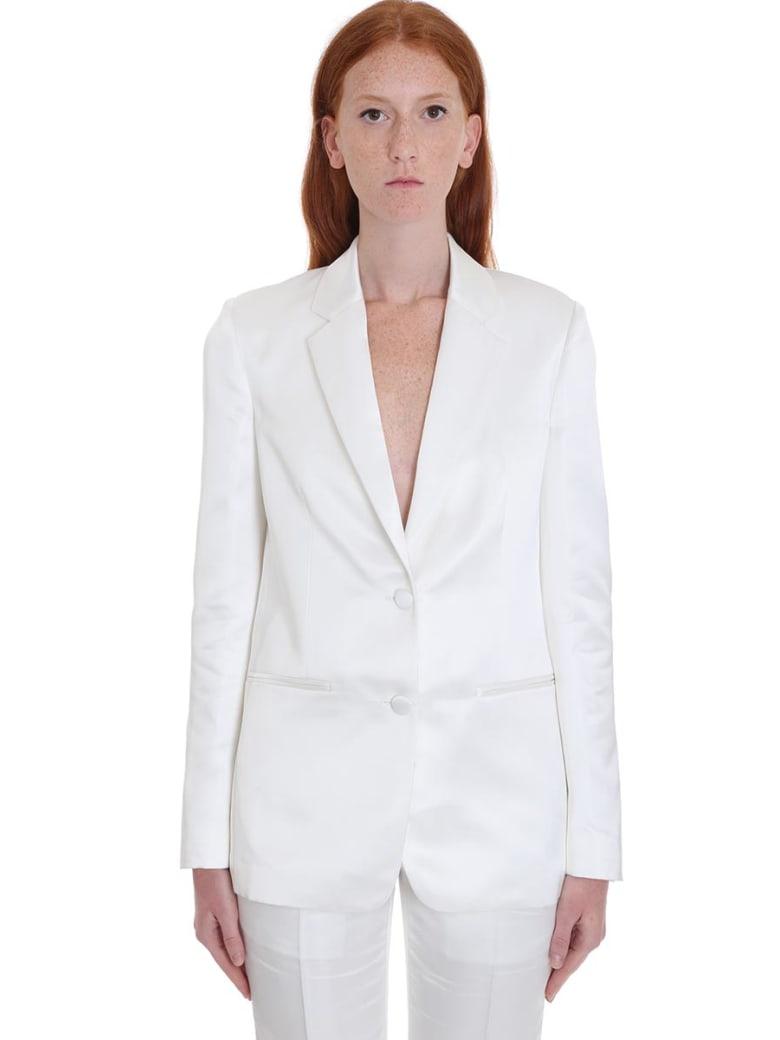Helmut Lang Blazer In White Viscose - white