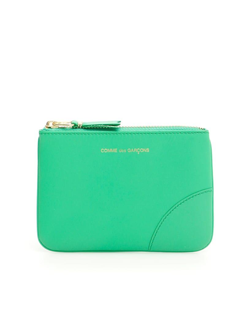 Comme des Garçons Wallet Unisex Color Block Pouch - GREEN (Green)