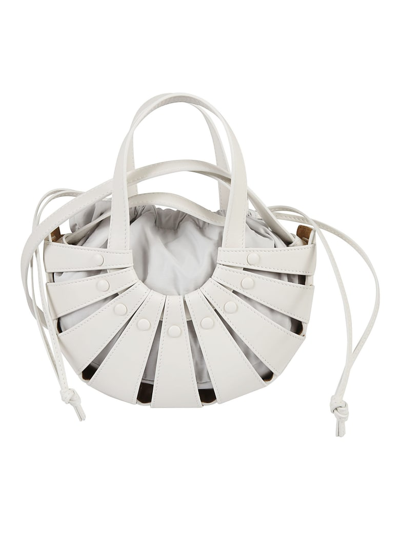 Bottega Veneta The Shell Shoulder Bag - White Frost/Gold