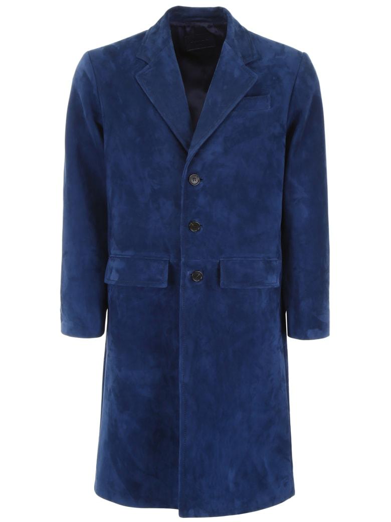 Prada Suede Coat - BALTICO (Blue)