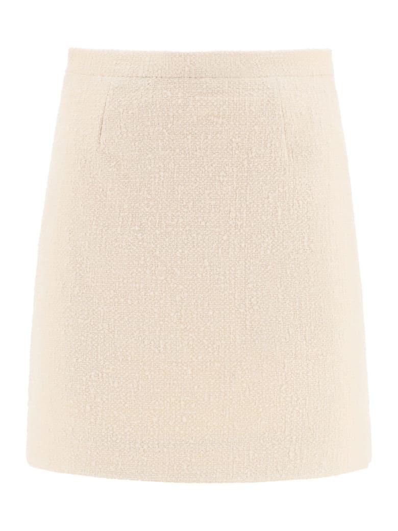 Patou Tweed Mini Skirt - SAND (Beige)