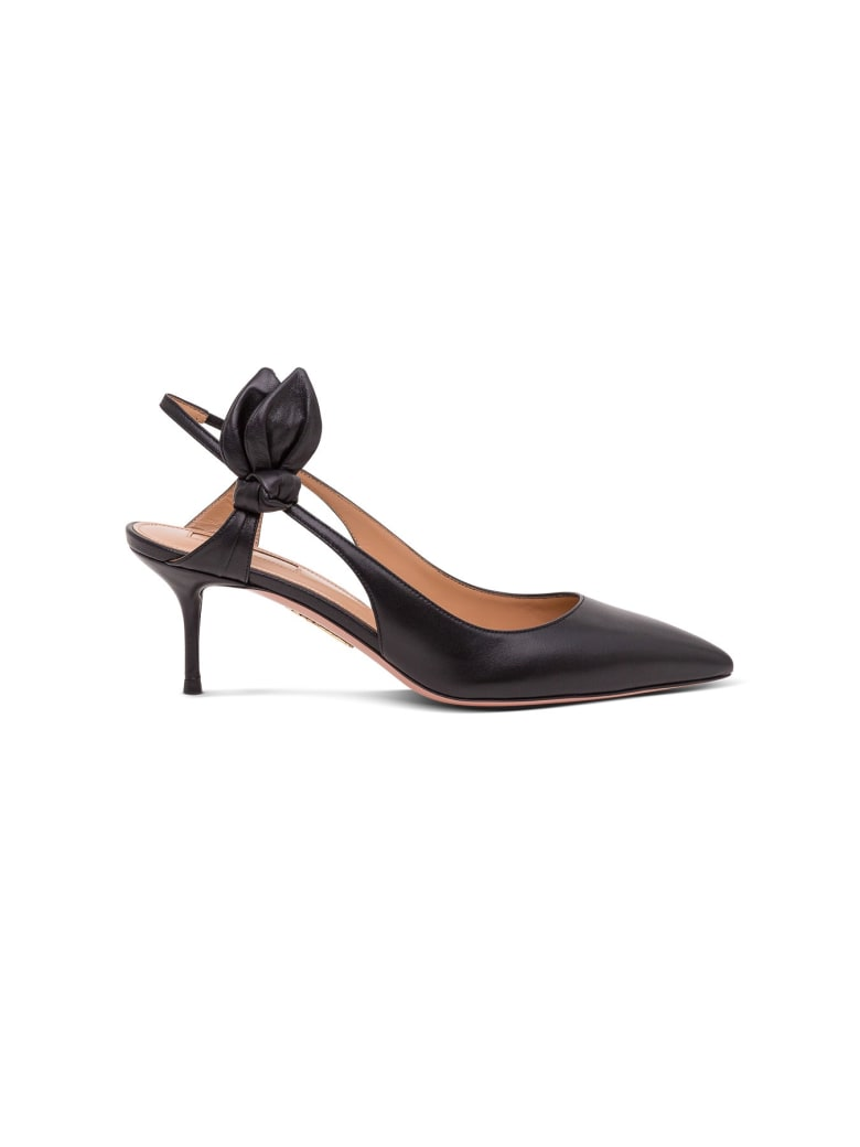 Aquazzura Leather Pumps - Black