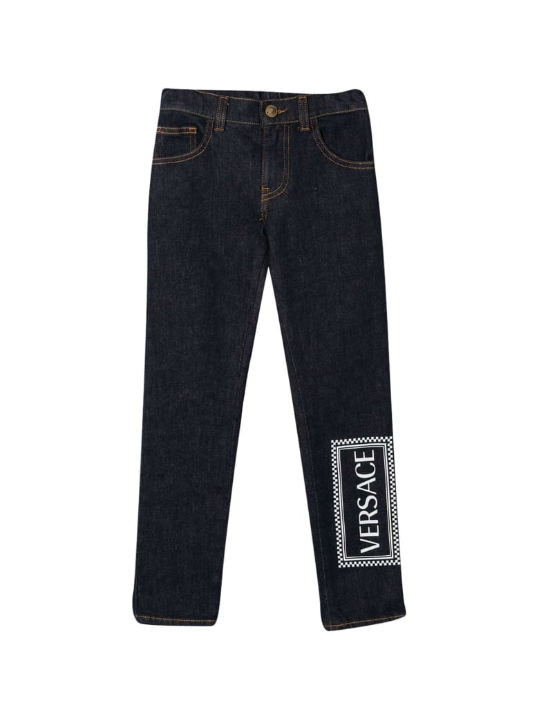 Young Versace Blue Jeans Teen - Blu/bianco