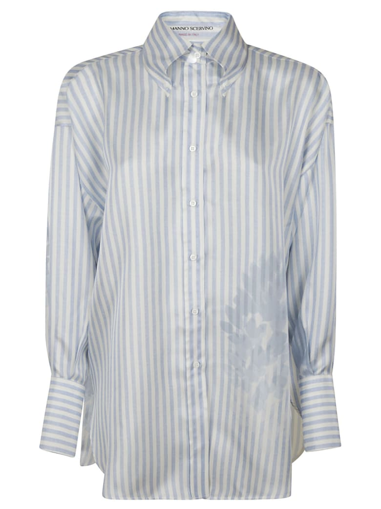 Ermanno Scervino Oversize Striped Shirt - BLUE