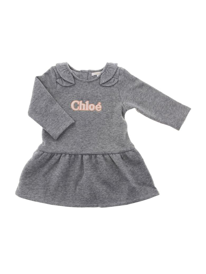 Chloé Abito Manica Lunga - Grigio