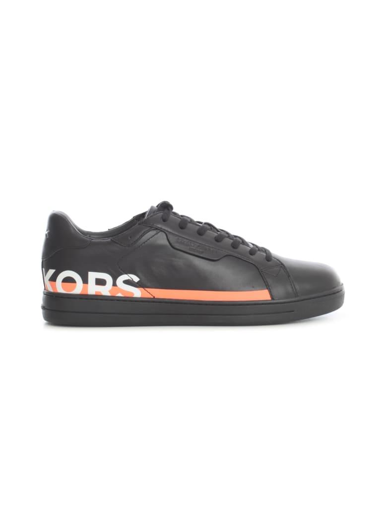 Michael Kors Keating Nappa Leather Sneakers - Black