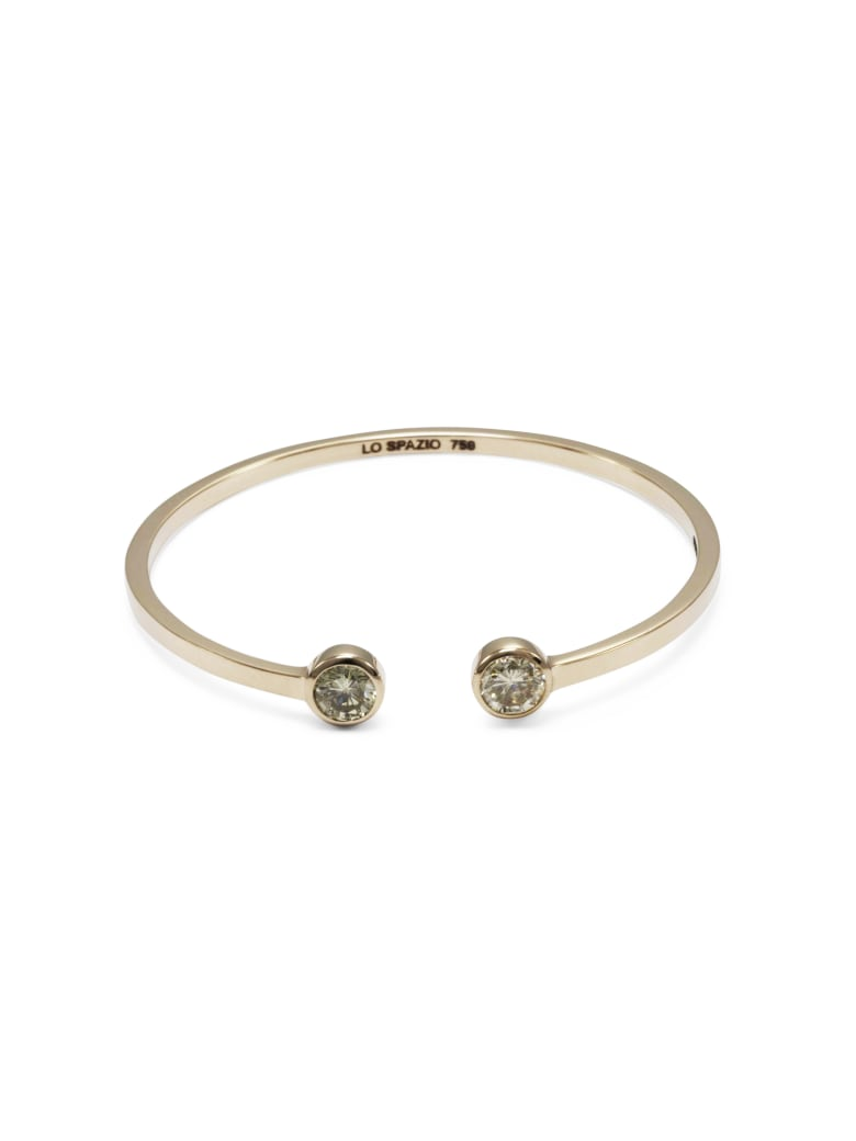Lo Spazio Jewelry Lo Spazio White Diamond Bangle - White